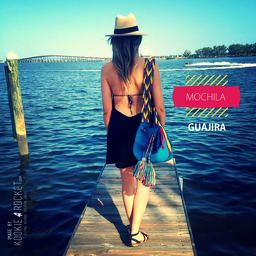 Blue MOCHILA GUAJIRA Great for a vacation trip, it gives you style and authenticity on summer days! Visit my blog for more pics.