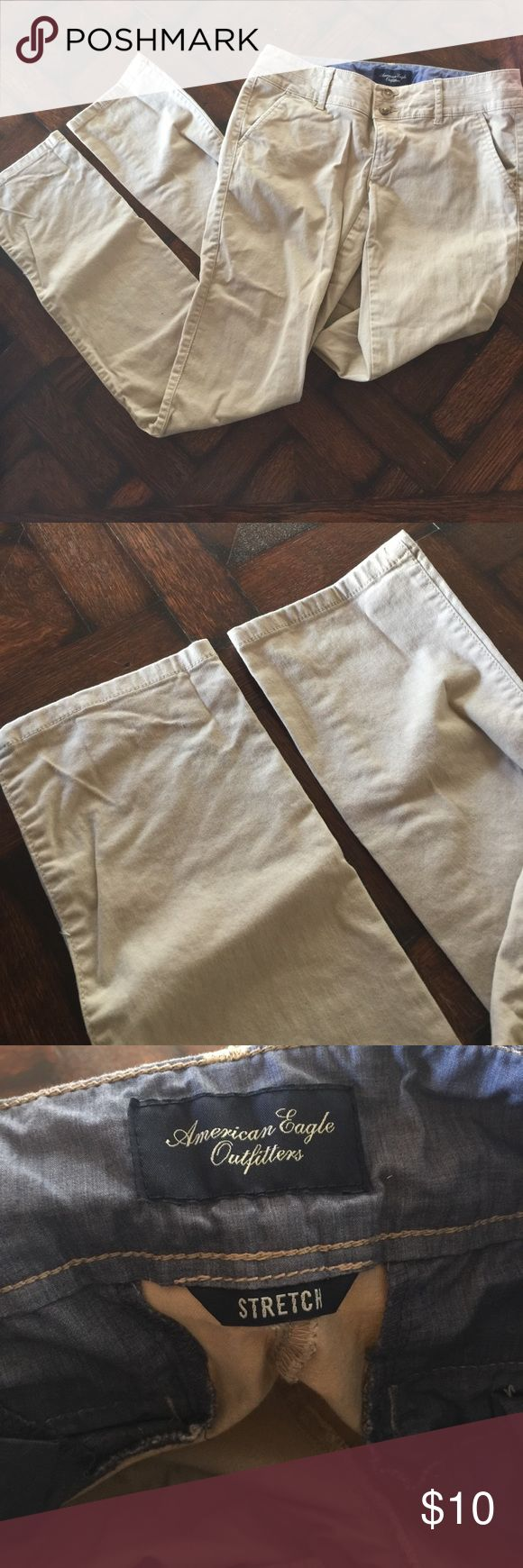 practically new, khaki skinny pants! in perfect condition American Eagle Outfitters Pants Skinny