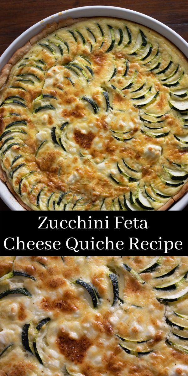 Zucchini Feta Cheese Quiche. With the abundance of zucchini at the market having a new quiche in the repertoire it would…