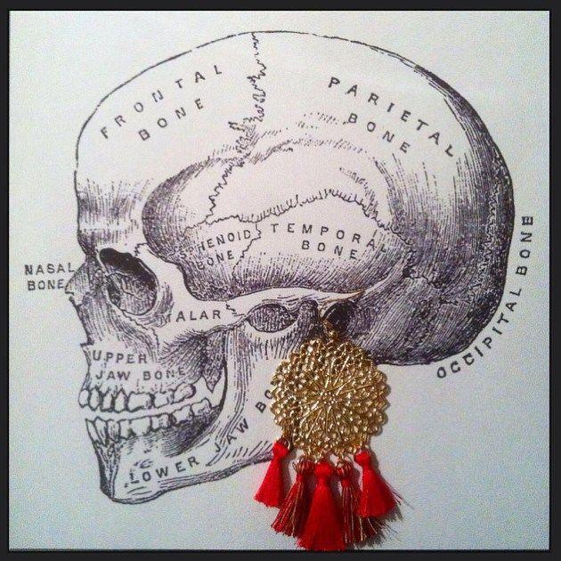 Boucles d'oreilles chandelier rouge Faites à la main en France - Les Désinvoltes