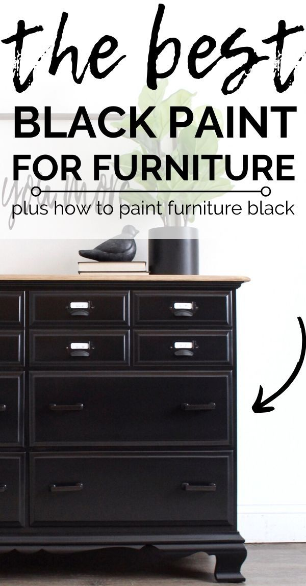 How To Easily Paint Black Furniture One Of The Hardest Colors To Get Perfect Black Painted Furniture Paint Dresser Diy Black Chalk Paint Furniture
