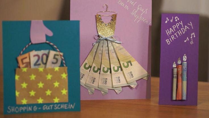 Geldgeschenke sind immer beliebt. Aber einfach nur im Briefumschlag? Langweilig! Das geht besser und wir zeigen wie es geht!