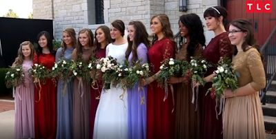 Jinger Duggar had 10 bridesmaids at her wedding, including sisters, sisters-in-law, and friends.