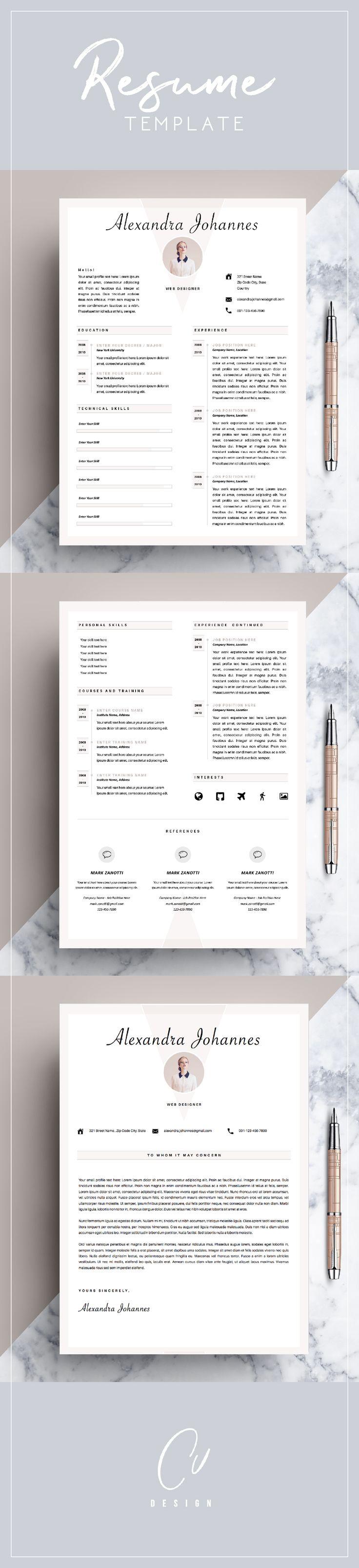 231 besten Creative resume by CVdesign Bilder auf Pinterest