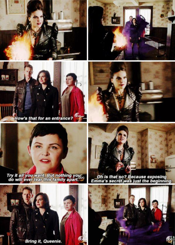 "Evil Queen, Regina, David and Snow White -  6 * 6 ""Dark Waters"""