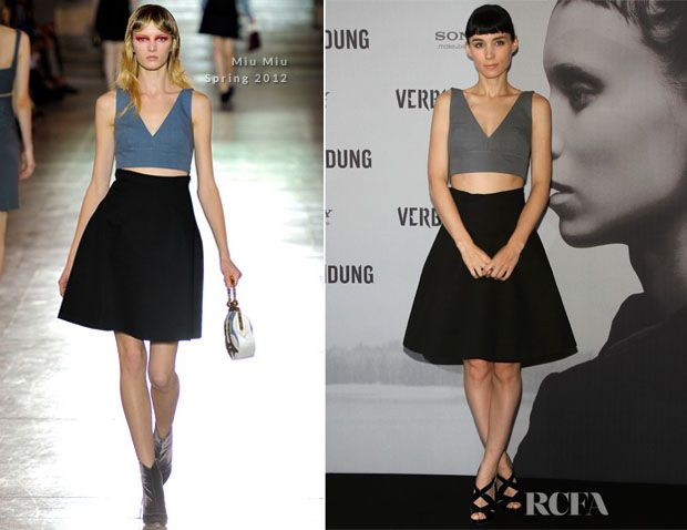 Rooney Mara In Miu Miu - 'The Girl With The Dragon Tattoo' Berlin Photocall