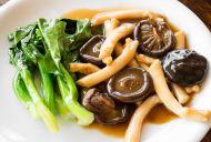 Kale and Shitake Mushrooms