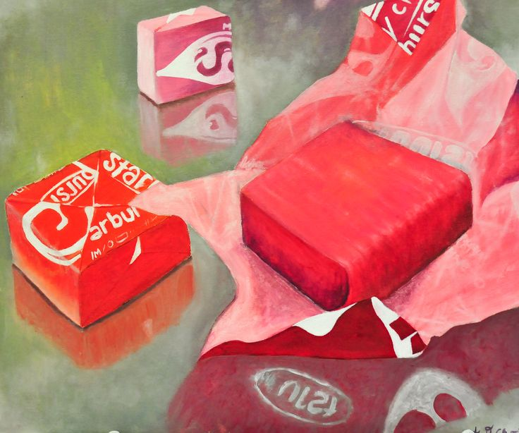 Candy still life painting. Where are the sour patch