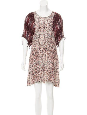Etoile Isabel Marant Silk Paisley Print Dress