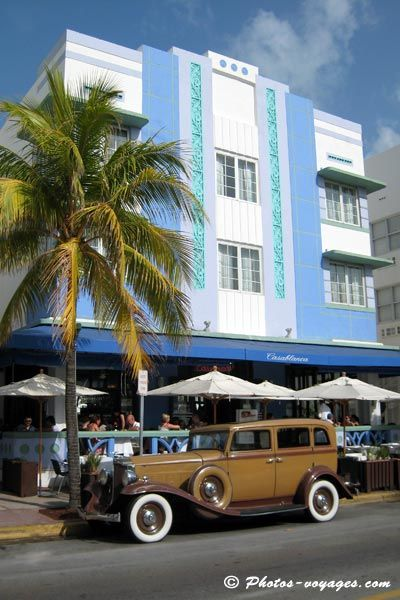 art deco hotel | Architecture art-déco de l'hôtel Casablanca Miami beach