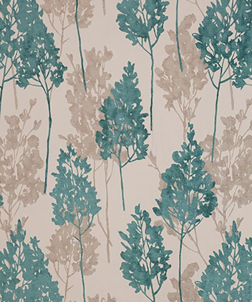 Alice 21 Teal Curtain Fabric