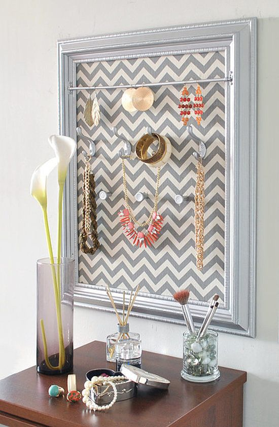 Get inspired with your own belongings by keeping your jewelry on display.