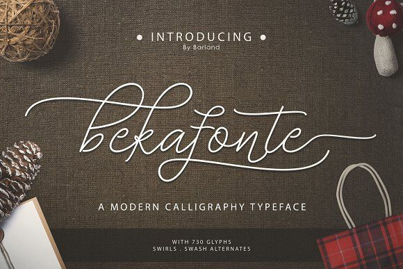 Bekafonte Typeface by Barland on @creativemarket