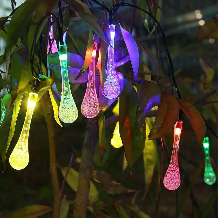 Amazon.com: Innoo Tech Icicle Solar String Lights Outdoor Globe Light RGB 20 Led Fairy Lights for Patio, Solar Lights Garden Decoration for Indoor Proch Path Christmas Tree: Home Improvement