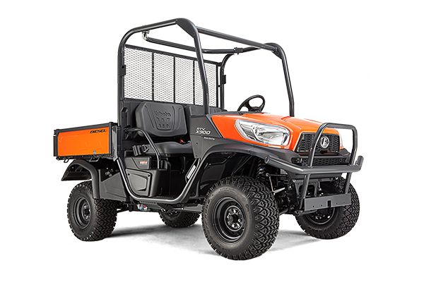 RTV x900 ENGINE TYPE – Kubota D902-E4-UV, 3-Cylinder, 4-Cycle, Diesel, OHV ENGINE GROSS POWER – 16.1 kW (21.6 HP) DISPLACEMENT – 898 cc TRANSMISSION – Variable Hydro Transmission (VHT-X) MAX. TRAVELLING SPEED – High: 40, Low 24 km/h PAYLOAD CAPACITY – 755 Kg TOWING CAPACITY – 590 Kg FUEL TANK CAPACITY – 30 L STEERING – Hydrostatic Power Steering