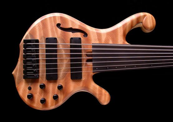 Bordwell fretless 7 owned by Sam Oakes