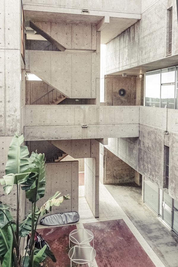 Louis Kahn | Salk Institute | La Joilla;California | Photo by Rasmus Hjortshøj, via Behance