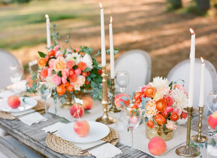 Photography: Justin DeMutiis Photography - justindemutiisphotography.com   Read More on SMP: http://www.stylemepretty.com/2014/03/28/peach-wedding-inspiration-full-of-color/