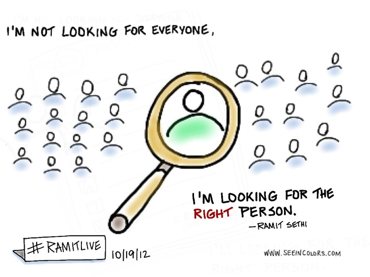 "Ramit Sethi - ""I'm not looking for everyone, I'm looking for the right person"" 