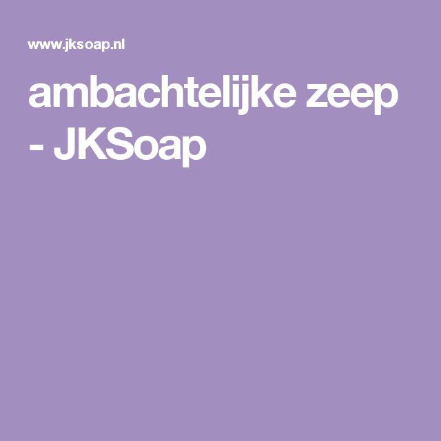 ambachtelijke zeep - JKSoap