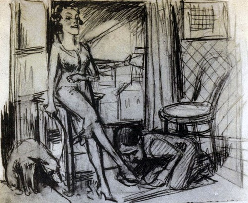 The Polish writer Bruno Schulz taught art in a boys school in Drogobych, and made drawings very like his stories.