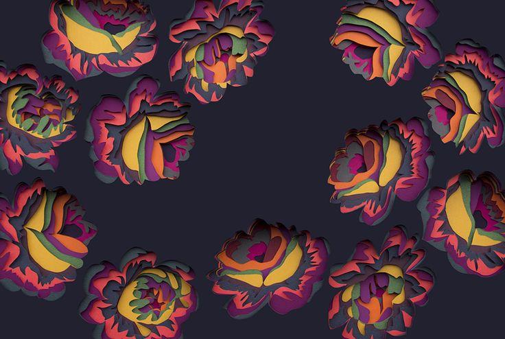 Transfixing 3D Paper Patterns by Maud Vantours sculpture pattern paper