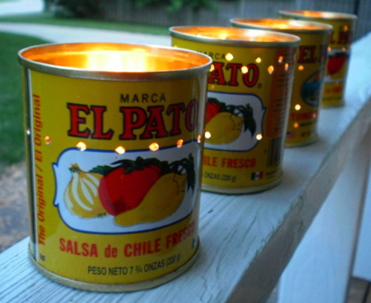 Rehearsal Dinner Decorations El Pato Mexican tin cans Set of 6 SMALL Dia de los Muertos Wedding Decorations Make unique Candle Votives by InNonnasKitchen on Etsy https://www.etsy.com/listing/272766626/rehearsal-dinner-decorations-el-pato