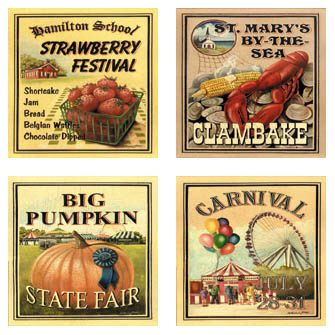 Vintage Summer Coasters  Summer Travels  LOVE all the fairs & festivals