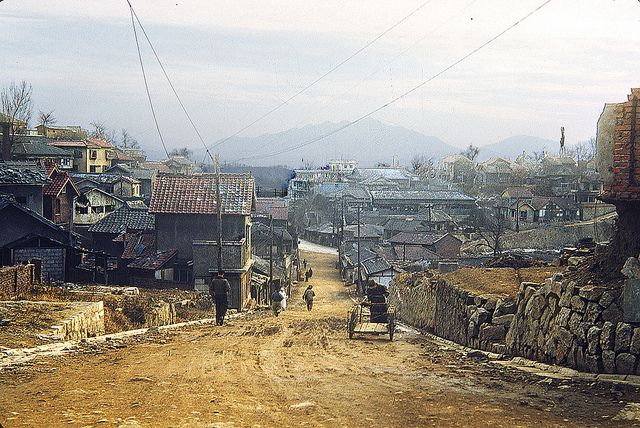 Huam Dong, Yongsan Ku, Seoul, 1952   This street ran from th…   Flickr