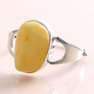 Butterscotch Amber Silver Cuff Bracelet