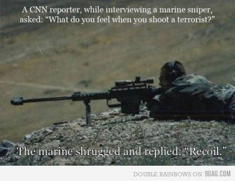 Please tell me a reporter didn't ACTUALLY ask this. If so, this guy is a bad-ass... like all Marines.
