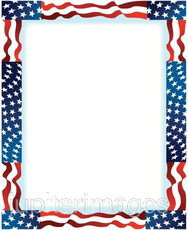 Memorial day page borders for Headshot border template