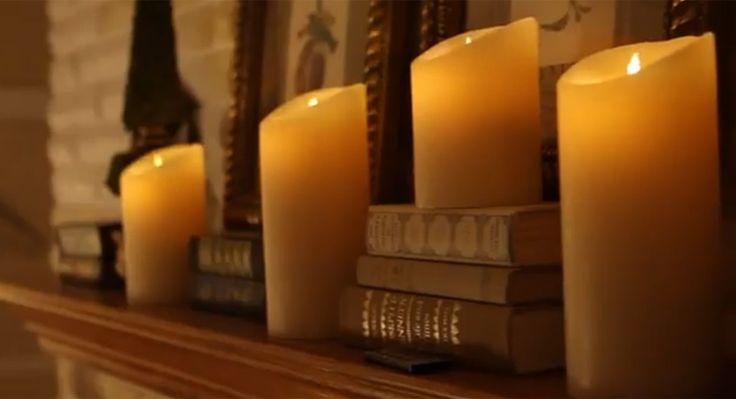 Luminara Candles | Realistic Moving Flame Candle  These are the ones!  Walked into church and had to look twice. Fabulous in the Christmas arrangements along the wall.