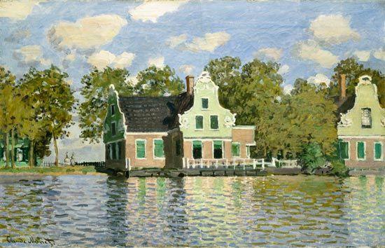 Claude Monet (1840-1926) painting of Zaandam, Netherlands