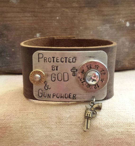 Hey, I found this really awesome Etsy listing at https://www.etsy.com/listing/191431852/protected-by-god-gunpowder-hand-stamped