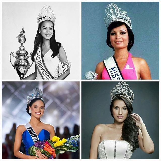 📍Miss Universe 2017 👑    The show will start at exactly 8AM @ABS-CBN tomorrow. November 27 (Monday) Philippine Time. 😉    1969 @its.gloriadiaz 👸🏻  1973 @margie_moran 👸🏻  2015 @piawurtzbach 👸🏻  2017 @rachelpetersx ... LOADING! ⏳    Amen 🙏🏻Let's do this Philippines 🇵🇭❤️💪🏻 Maghanda na ang lahat para sa matinding sagupaan sa online voting bukas. vote.missuniverse.com or just tweet #MissUniverse #Philippines during the live show. God bless. 🙏🏻 P.S. Sa mga pinoy na nega at…