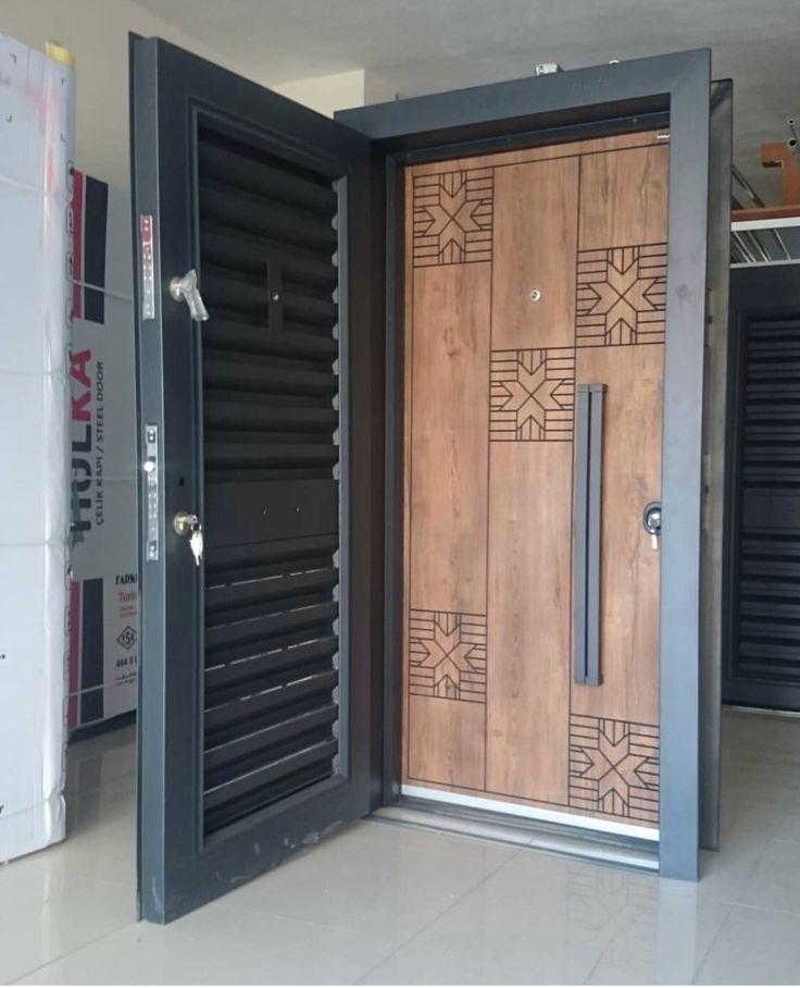Steel door special design Özel tasarım panjurlu çelik kapı ...