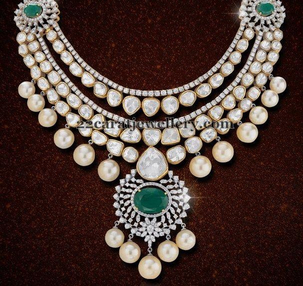 Sparkling Diamond Chokers by Shobha