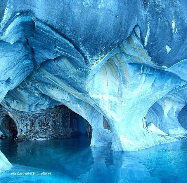 Marble caves in Chile