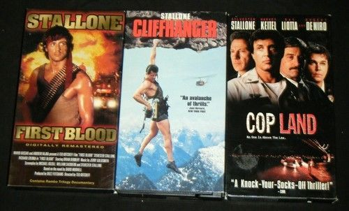SYLVESTER STALLONE 3 VHS - First Blood, Cop Land, ++