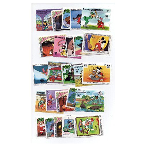 From 9.99 Disney Cartoon Postage Stamps World Worldwide Unmounted Mint Stamps Collectable Set Of 50 Different Postage Stamps! Souvenir / Speicher / Memoria / Recuerdo! 50 Stamps! Timbre-poste / Briefmarke / Francobollo / Sello De Correos!