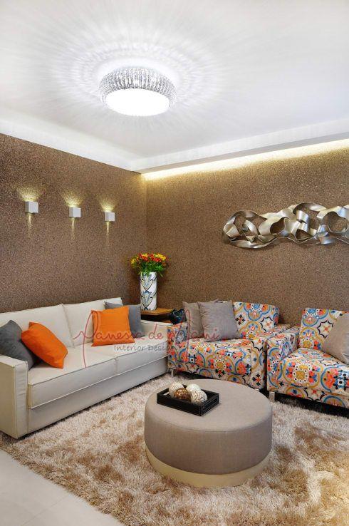Apartamento De 50m²   Antes E Depois Por Vanessa De Mani. Living Room  SofaModern ...