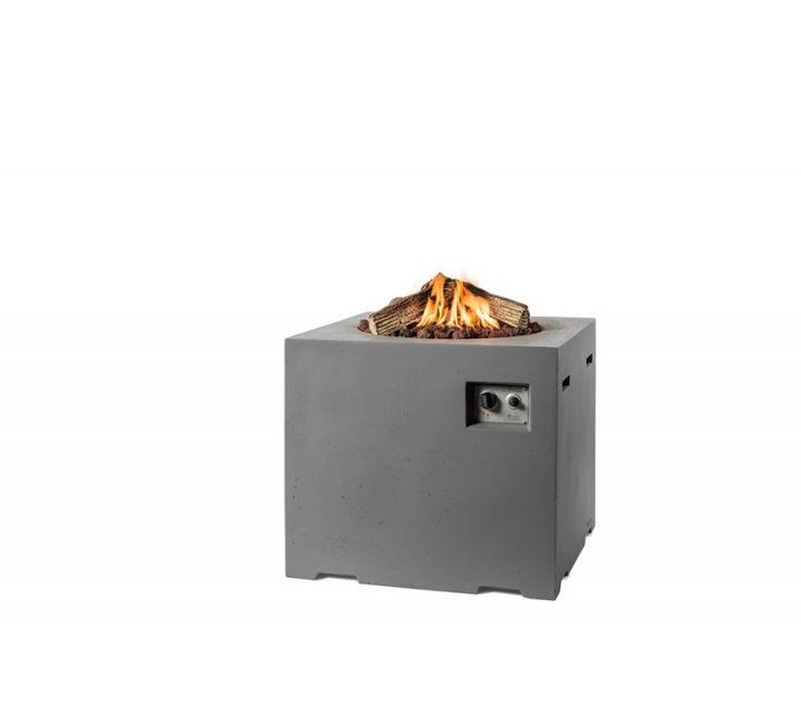 Gazowe palenisko ogrodowe Lounge&Dining 76x 76 x 67 cm antracyt - Kominki Gazowe Outdoor - Grille ogrodowe i wyposażenie tarasu Biokominki,Grille ogrodowe,Drzwi, Podłogi,Meble,Dekoracje