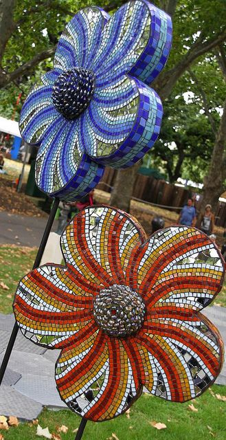 mosaic sculpture, via Flickr.