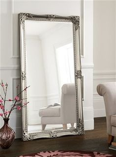 70 best images about silver gilded mirror on pinterest for Large bedroom floor mirror