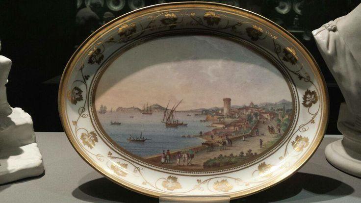 Piatto ceramica esposto al Museo di Capodimonte