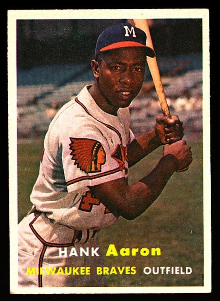 hank aaron baseball card 1975