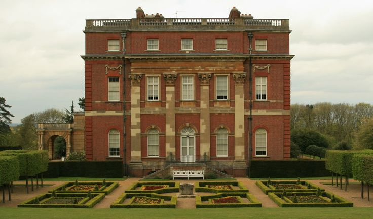 Clandon House, at Clandon Park, West Clandon, Surrey, England. 17th century estate, current manor house exterior built 1730-1733, interior construction completed 1740s.