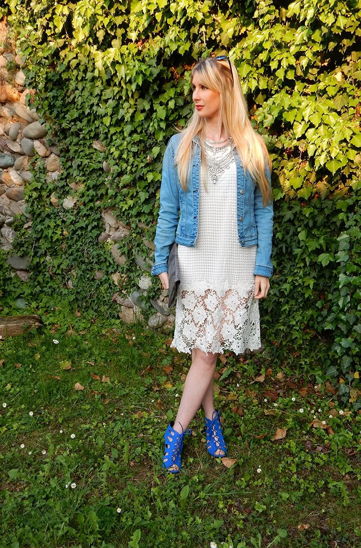 Lace dresses: how to accessorize them! Star of my outfit is a intricate long white midi lace dress, I paired this dress with a blue jeans jacket. I think fashion is all about playing and experimenting. >> Read More