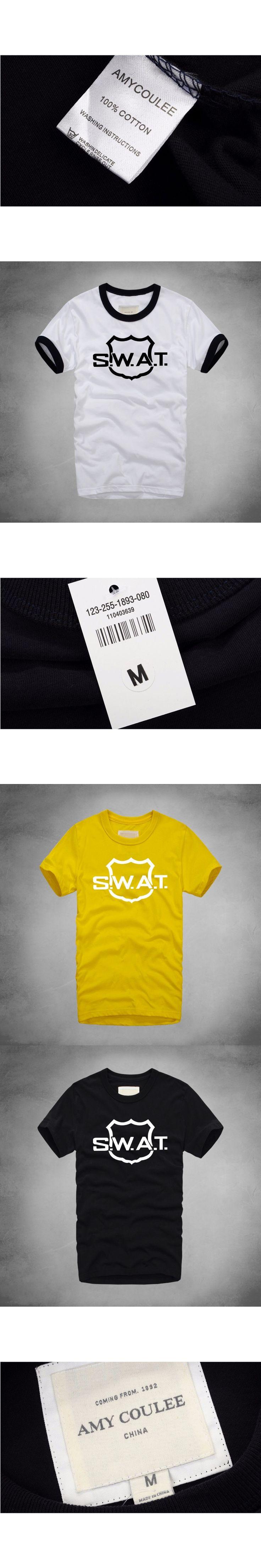 SWAT POLICE Print T shirt Men High Quality Palace Skateboards T-Shirts Summer Style 100% Cotton Short Sleeve Causal T shirt
